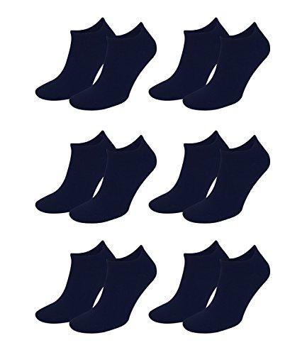 Tommy Hilfiger Herren Classic Sneaker 342023001 6Paar, Farbe:Blau;Sockengröße:43-46;Artikel:Sneaker dark navy 342023001-322
