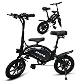 Bicicleta Eléctrica Plegable, E Bike con Pedales Motor de 400W hasta 45 Km/h, Batería de 48v 7.5Ah, 14' Neumáticos, Asiento Ajustable, Bici Electrica Urbana Ligera para Adulto, IENYRID B2