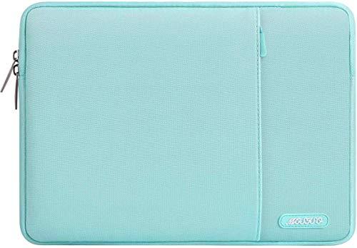 MOSISO Funda Protectora Compatible con MacBook Air 13-13.3 Pulgadas/MacBook Pro/Ordenador Portátil, Bolsa Blanda de Estilo Vertical,Azul Menta