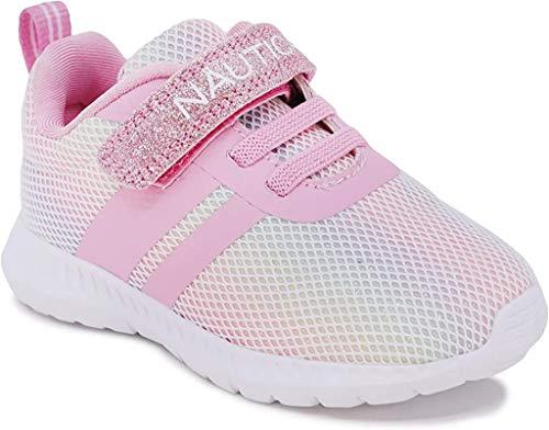 Nautica - Zapatillas deportivas deportivas para niños y niñas con Stap para niños pequeños y niños pequeños - Towhee-Rainbow Sparkle-9