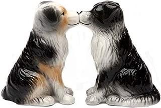 Australian Shepherd Dogs 3 3/4'' tall Magnetic Salt and Pepper Shakers