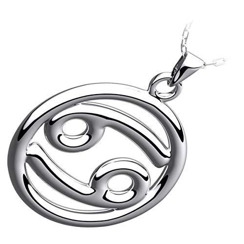GWG Jewellery Collane Donna Regalo Collana Argento Sterling Ciondolo Segno Zodiacale Cancro per Donne
