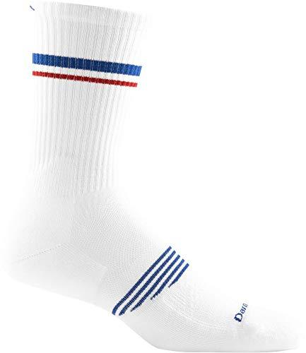 Darn Tough Merino Wool Element Crew Athletic Sock With Light Cushion - Men's White Medium