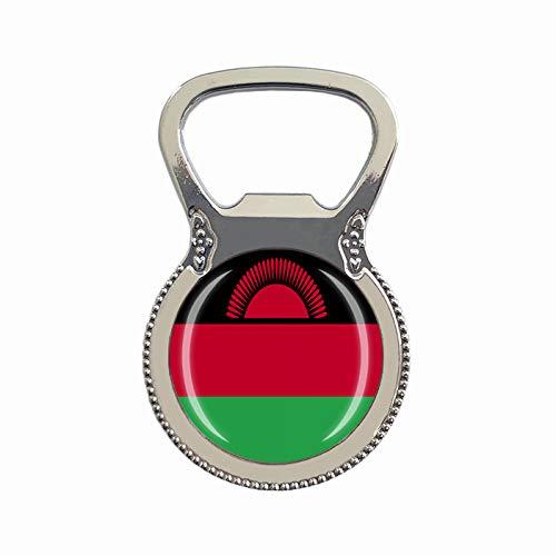Malawi Flagge Bierflaschenöffner Kühlschrank Magnet Metall Glas Kristall Reise Souvenir Geschenk Heimdekoration