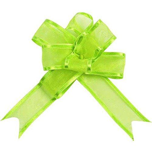 Générique 10 Mini Noeuds Organdi 16MM - Vert