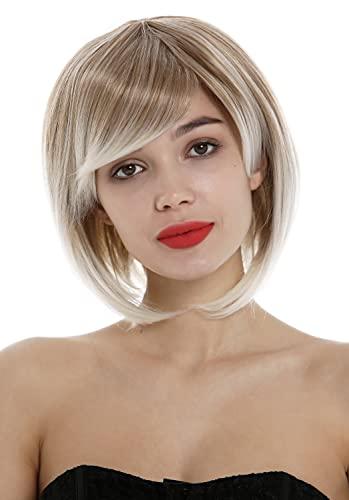WIG ME UP - 1215-27T613 perruque dames carré long frange courte raie blond mélange mèches