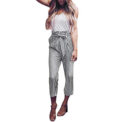 Hosen für Damen High Waist,Damen Soft Check Panel Hose,Damen Hose aus   Stoffhose in Unifarben   Freizeithose für den Strand  - Jogginghose