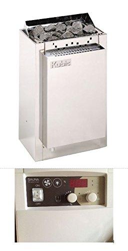Harvia Edelstahl Bio Combi Saunaofen Kubic 9 KW mit digitaler Steuerung und Feuchtefühler