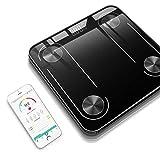 Qnlly Bad Bodenkörperwaage Glas intelligente Haushalt elektronische Digital Gewicht-Balance...
