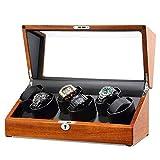 Sunmong Caja enrolladora de Reloj automática Rectangular, Motor silencioso, 4 Modos de rotación, Caja de presentación de Almacenamiento de Relojes de Madera (Color: C)