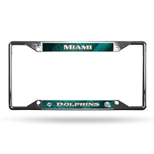 Rico Miami Dolphins NFL Chrome EZ View License Plate Frame