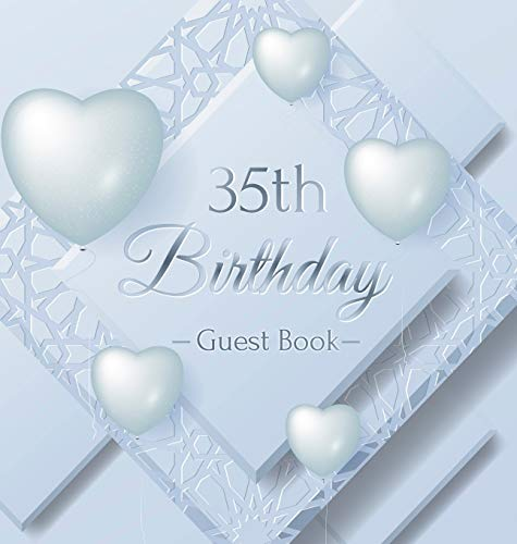 35th Birthday Guest Book: Ice Sheet, Frozen Cover Theme, Best Wishes from Family and Friends to Write in, Guests Sign in for Party, Gift Log, Hardback