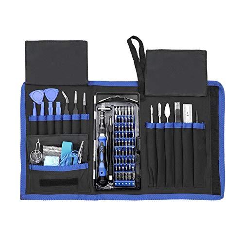 Juego de destornilladores de precisión para reparación de electrónica, kit de herramientas magnético profesional portátil 80 en 1 para teléfono reloj y tablet