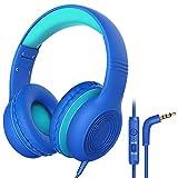 Cuffie per Bambini, con Limite di Volume 85dB and 94 dB e Microfono Stereo ad Alta Definizione, Funzione di Condivisione Della Musica