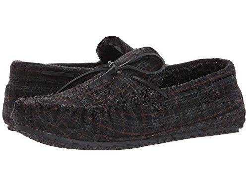 Minnetonka Mens Plaid Casey Moccasin Slipper Charcoal Size 13