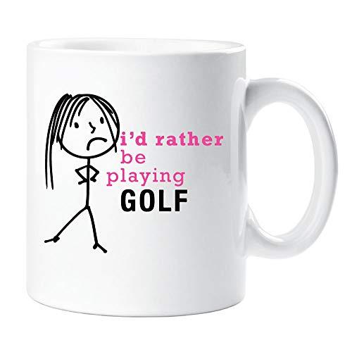 Dames Ik zou liever spelen Golf Mok Cup Nieuwigheid Vriend Gift Valentines Gift Vrouw Vriend Womens Zuster Vriend