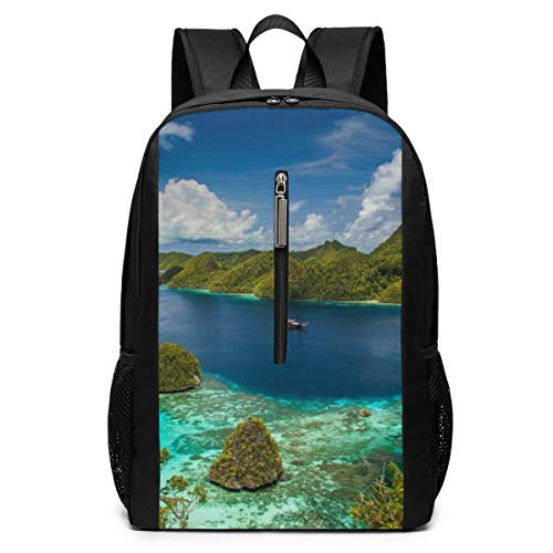 Raja Ampat West Papua Indonesien Insel Meer Ozean Tropical Business Laptop Rucksack Resistant Tasche Daypack fits 17 Zoll Computer Notebook Rucksack Casual Daypack