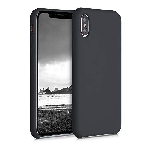 kwmobile Cover Compatibile con Apple iPhone X - Custodia in Silicone TPU - Back Case Protezione Cellulare Nero