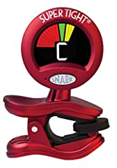 """Tunes Acoustic Guitars, Electric Guitars, Basses and All Instruments Pitch Calibration Tune with Vibration Sensor or Microphone Tap Tempo Metronome Sturdy """"Stay Put"""" Clip"""