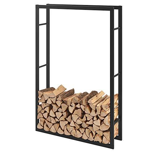 [en.casa] Kaminholzregal 100x150x25cm Brennholzregal Feuerholzregal Holzhalter