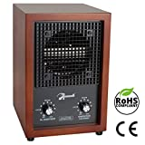 Mammoth Ion and Ozone Generator for Home Use, Adjustable 46.3ft³/h Ion and 3,000mg/h Ozone Output (Cherry...