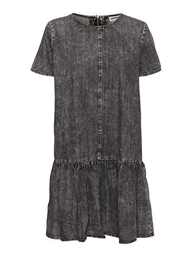 Noisy may Damen NMEMILIA S/S Dress BI036MG BG NOOS Kleid, Medium Grey Denim, XL