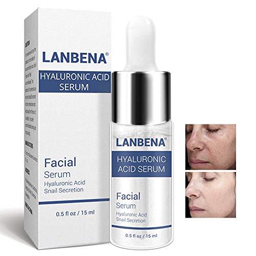 Face Snail Hyaluronic Acid Serum Whitening Anti Aging Moisturizing Lifting Firming Skin