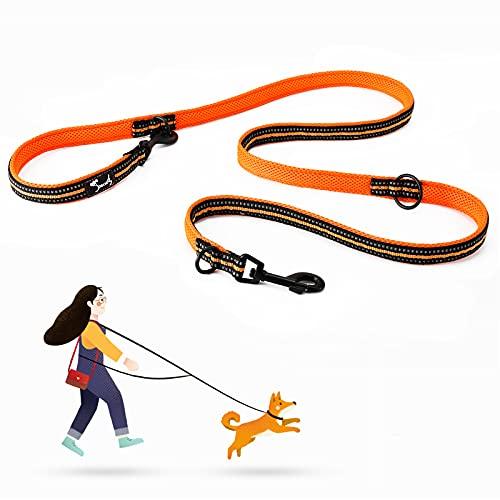 Smarte 7-in-1 Multifunktions-Hundeleine, verstellbares strapazierfähiges Nylon, 3 Meter lang, reflektierendes Material, freihändiges Gehen, Trainings- und Laufleine