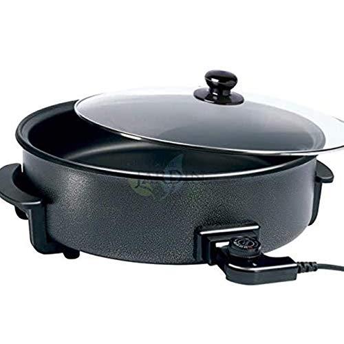 Suinga PAELLERO - Pentola elettrica 1500 W Ø 42 x 7 cm, rivestimento nero teflon, temperatura fino a 250 °C, strato antiaderente per una maggiore durata.