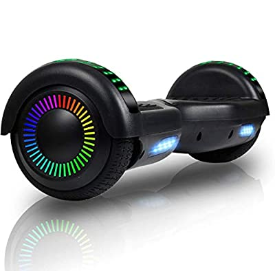 "FLYING-ANT Hoverboards 6.5"" Two-Wheel Self Balancing Electric Scooter with LED Light Flash Lights Wheels with UL 2272 Certified and Carry Bag(Black)"