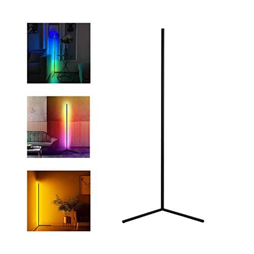 YLJXXY Moderna Lámpara de Pie Lampara de Pie Regulable LED RGB Minimalista Luces de Pie con Control Remoto para Salón, Dormitorio
