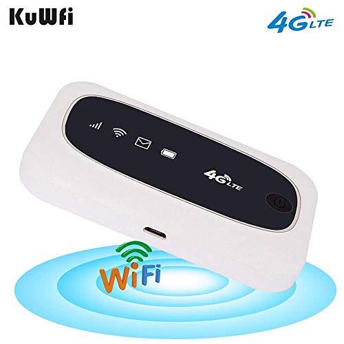 KuWFi 4G-Reise-Router, Hotspot, WiFi, Mobile LTE, kabellos, mit Unterstützung für SIM-Kartensteckplatz, SD, LTE, FDD/TDD, Arbeit für Europa, Afrika, Asien, Ozeanie