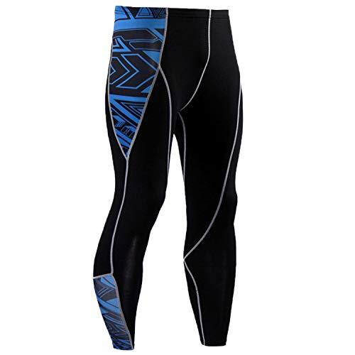 Pantalones de compresión JACK CORDEE para hombre al aire libre pantalones de compresión para correr, Hombre, color negro/azul, tamaño medium