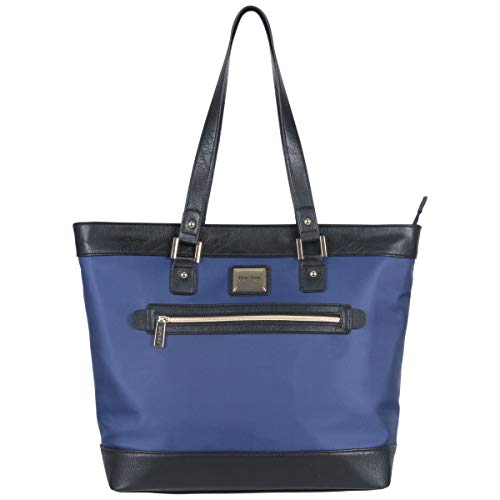 Kenneth Cole Reaction Women's Runway Call Nylon-Twill Top Zip 16' Laptop & Tablet Business Tote, Navy