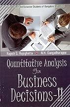 Quantitative Analysis I B.Com. I Tum Kurum Kant Uni.
