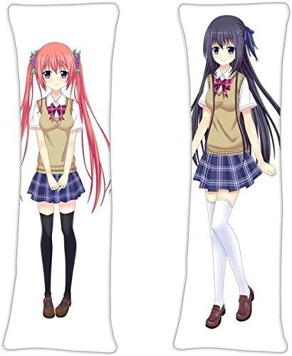 NSNBN EIN Sommerversprechen für Immer Kissenbezüge mit Anime-Print und verdecktem Reißverschluss 160 x 50 cm (62,9 x 19,6 Zoll) japanische Textil- und glatt gestrickte Kissenbezüge