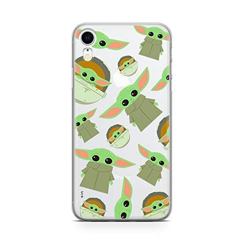Original und Offiziell Lizenziertes Star Wars Baby Yoda Handyhülle für iPhone XR, Case, Hülle, Cover aus Kunststoff TPU-Silikon, schützt vor Stößen und Kratzern