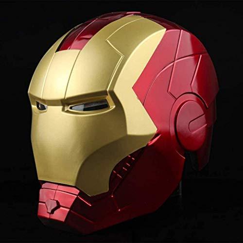 Avengers Joint Iron Man 1/1 Helm Leuchtende Tragbare Modell Halloween Filmrolle Spiel...