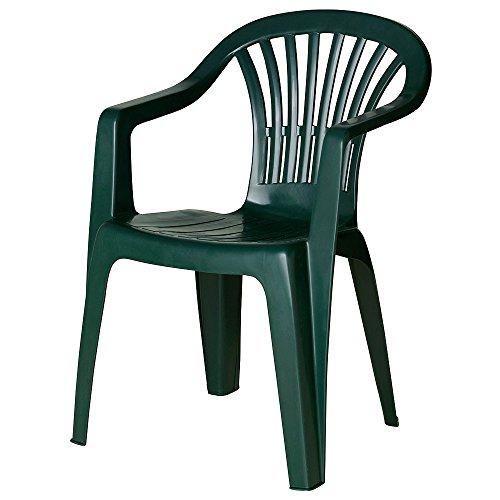 SATURNIA-Chaise en Résine Monobloc R.Bajo Kona Vert