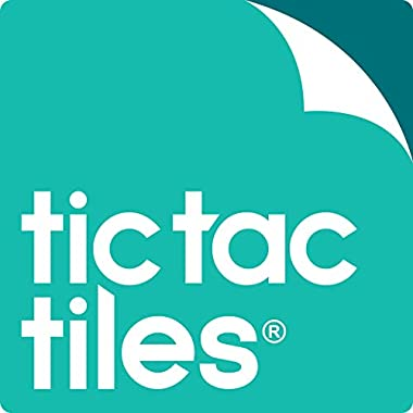 Tic Tac Tiles 10-Sheet Peel and Stick Self Adhesive Removable Stick On Kitchen Backsplash Bathroom 3D Wall Sticker Wallpaper