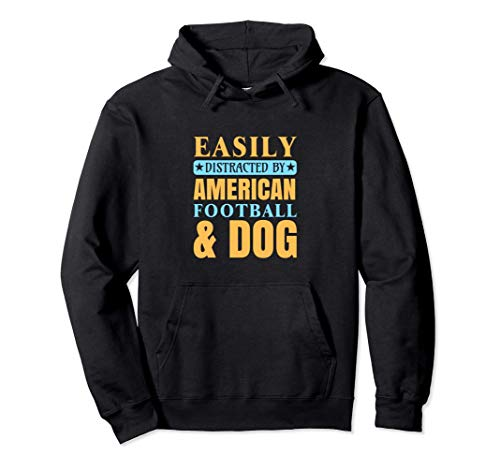 American Football Dog Lover Owner Player Coach Fan Gift Men Pullover Hoodie