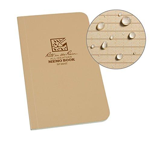 Rite in the Rain Allwetter-Notizbuch, weicher Einband, 8,9 x 15,2 cm, grüner Einband, Universal-Muster (Nr. 964) 6 x 3.5 x 0.25 hautfarben