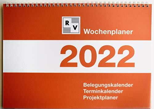 Wochenplaner 2022 DIN A4, Schafberger Verlag, Belegungskalender, Terminkalender, Projektplaner
