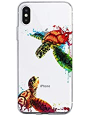 Oihxse Funda para iPhone 5/5S/SE Transparente, Estuche con iPhone 5/5S/SE Ultra-Delgado Silicona TPU Suave Protectora Carcasa Océano Animal Serie Bumper (C9)