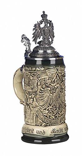 King Jarra de cerveza alemana lema alemán, jarra 0,5 litros