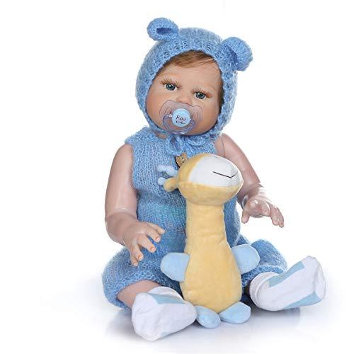 Binxing Toys 20 Pulgadas Realista bebé Reborn niño Impermeable muñeca Reborn Cuerpo Completo Silicona Seguridad Probada