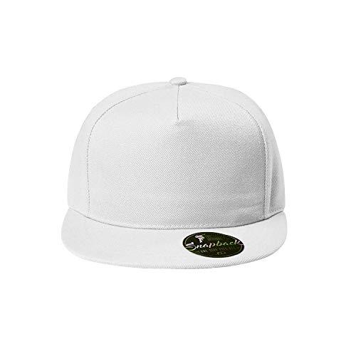 OwnDesigner - Snapback, Cap, Mütze, Kappe Unisex Baseball Cap in verschiedenen Farben, für Erwachsene und Kinder, A91-weiß, Einheitsgröße