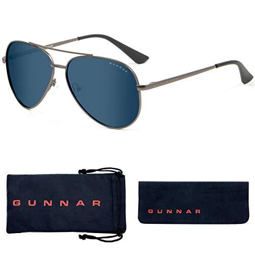Blue Light Blocking Sunglasses |Maverick/Gunmetal by Gunnar | 90% Blue Light & Sun Protection (100%...