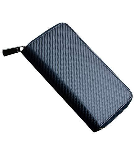 HIGH FIVE アイコス3対応 デュオ iQOS3対応 MULTI ケース 両方入る カバー カーボンレザー 革 カード入れ ホルダー 全部収納 ネイビー