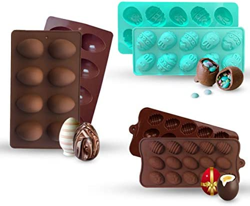 Egg Silicon mold for Chocolate Bombs 5 Different Easter Egg Shapes Baking Mold Tray for Handmade product image